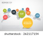 light world map with simple... | Shutterstock .eps vector #262117154