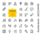outline web icons set  ... | Shutterstock .eps vector #262124450