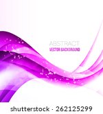 vector abstract curved lines... | Shutterstock .eps vector #262125299