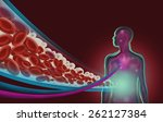a human figure with a diagram...   Shutterstock . vector #262127384