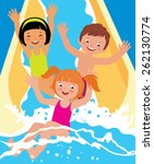 stock cartoon illustration ... | Shutterstock . vector #262130774