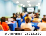 abstract blurred people lecture ... | Shutterstock . vector #262131680