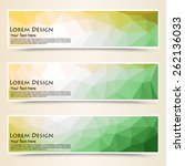 abstract colorful set of shiny... | Shutterstock .eps vector #262136033
