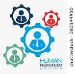 human resources over white... | Shutterstock .eps vector #262144910