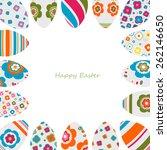 easter eggs card   Shutterstock .eps vector #262146650