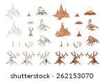 set of sketch objects for game... | Shutterstock .eps vector #262153070