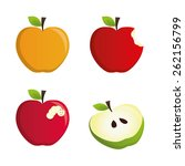 fruit design over white... | Shutterstock .eps vector #262156799