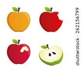 fruit design over white... | Shutterstock .eps vector #262156799