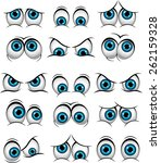 cartoon faces with various... | Shutterstock .eps vector #262159328