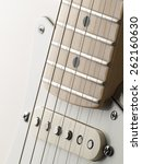 White Single Coil Guitar Close...