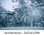 Classic Bicycle At Sunset In...