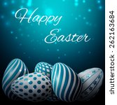 Happy Easter  Many White Blue...