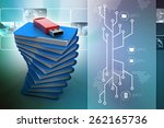 usb drive with file folder | Shutterstock . vector #262165736