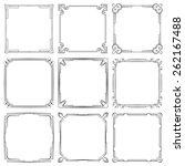 vector set of nine square... | Shutterstock .eps vector #262167488