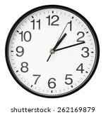 wall clock isolated on the... | Shutterstock . vector #262169879