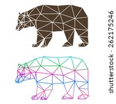 abstract geometric bear set... | Shutterstock .eps vector #262175246