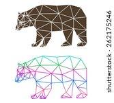 abstract geometric bear set... | Shutterstock .eps vector #262175246