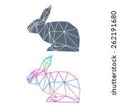 abstract geometric rabbit set... | Shutterstock .eps vector #262191680