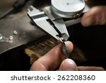 craft jewelery making. ...   Shutterstock . vector #262208360