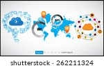 infographic vector illustration.... | Shutterstock .eps vector #262211324