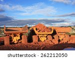 Dump Trucks On A Construction...