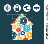 smart house design  vector... | Shutterstock .eps vector #262223843