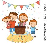 happy birthday design  vector... | Shutterstock .eps vector #262224200