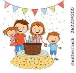 happy birthday design  vector...   Shutterstock .eps vector #262224200