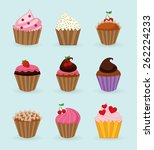 sweet cupcake design  vector... | Shutterstock .eps vector #262224233