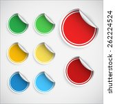 set of blank stickers.... | Shutterstock .eps vector #262224524