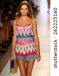 miami  fl   july 20  a model... | Shutterstock . vector #262225160