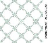 seamless ornate symmetric green ... | Shutterstock .eps vector #262228220