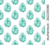 easter egg. seamless watercolor ... | Shutterstock .eps vector #262230080