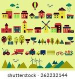 village elements. elements for... | Shutterstock .eps vector #262232144