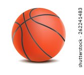 vector basketball isolated on a ...   Shutterstock .eps vector #262241483