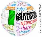 relationship building words on... | Shutterstock . vector #262242260