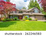 luxury house with beautiful... | Shutterstock . vector #262246583
