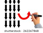 different thinking concept   Shutterstock . vector #262267868