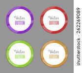 vector color circle buttons. | Shutterstock .eps vector #262269089