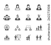 business man icons | Shutterstock .eps vector #262273508