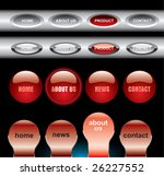 editable website buttons | Shutterstock .eps vector #26227552