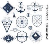 set of nautical logos  badges...