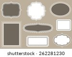 vintage frames   colors are... | Shutterstock .eps vector #262281230