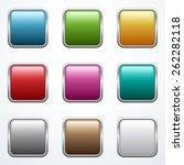 set o buttons  | Shutterstock .eps vector #262282118