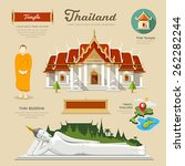 thai temple and thai buddha... | Shutterstock .eps vector #262282244