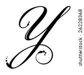lettre y calligraphie Letter Y Script Stock Vector 26228368   Shutterstock lettre y calligraphie