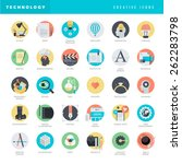 set of flat design icons for... | Shutterstock .eps vector #262283798