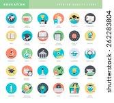 set of flat design icons for... | Shutterstock .eps vector #262283804
