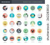 set of flat design icons for... | Shutterstock .eps vector #262283810
