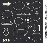 hand drawn arrows speech bubble ... | Shutterstock . vector #262288214